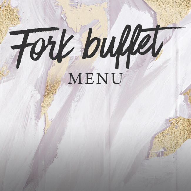Fork buffet menu at The Flying Horse