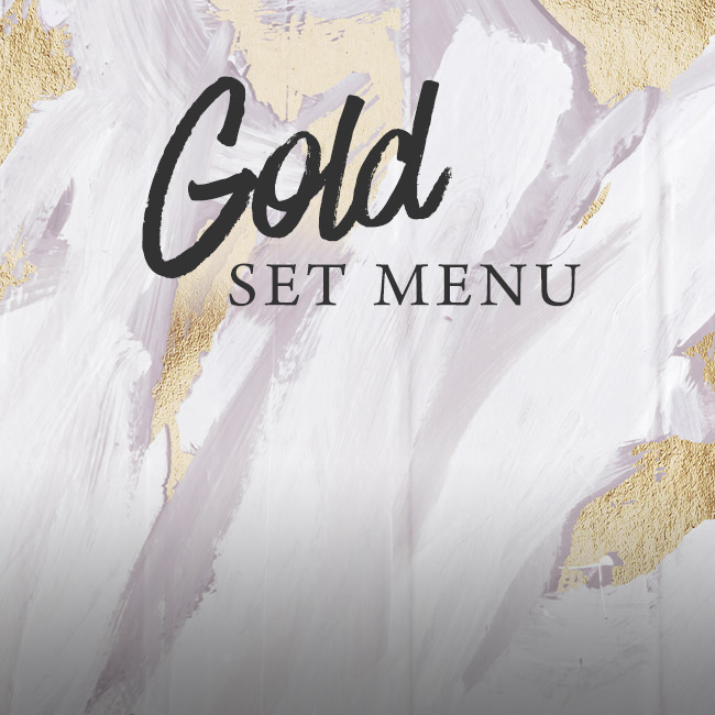 Gold set menu at The Flying Horse