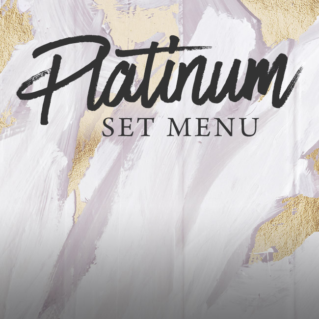 Platinum set menu at The Flying Horse