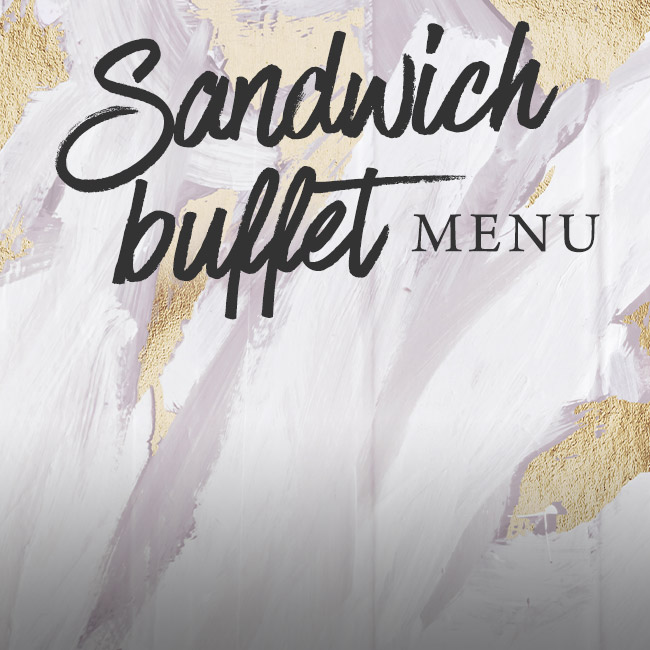 Sandwich buffet menu at The Flying Horse