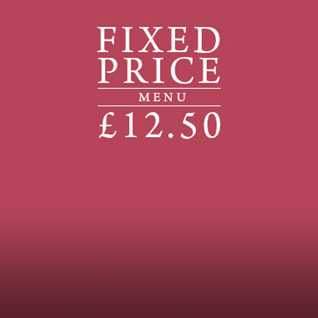 Fixed Price Menu at The Flying Horse