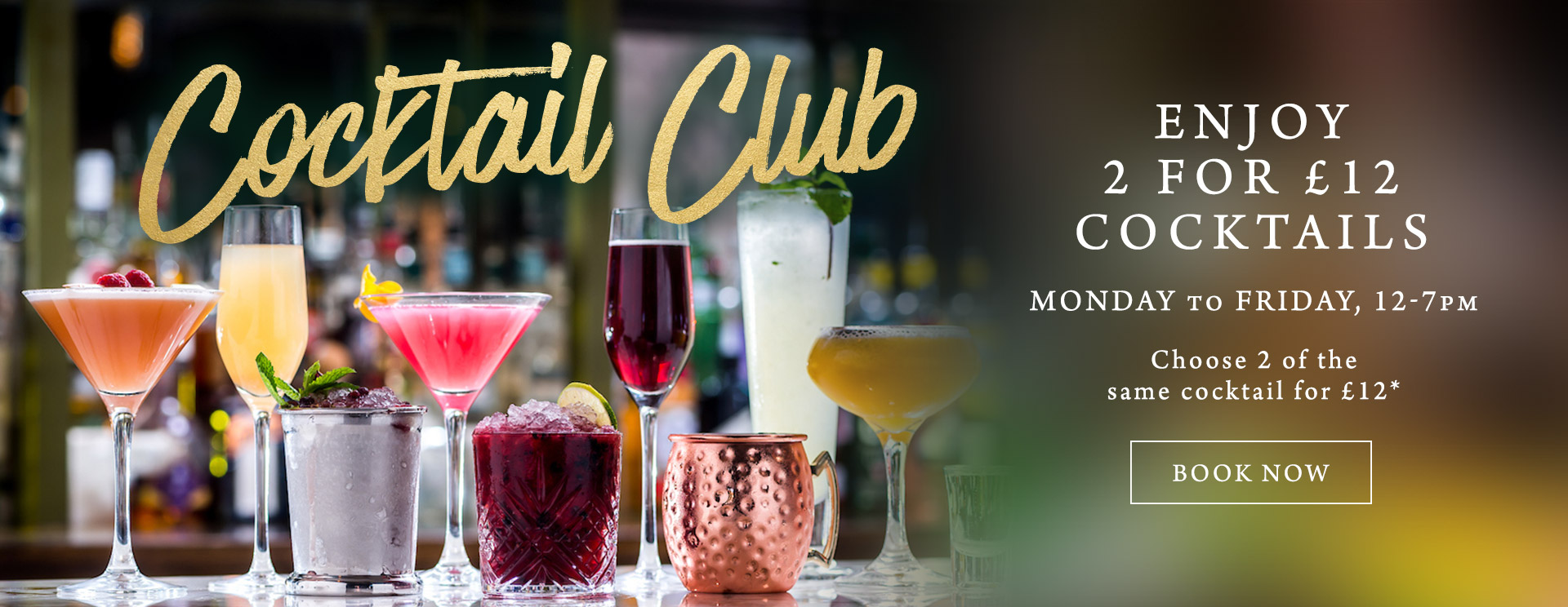 2 for £12 cocktails at The Flying Horse